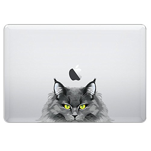 FINCIBO MacBook Pro 13.3 Inch Case, Crystal Clear Hard Shell Transparent Protector Cover Case For Apple MacBook Pro 13.3 Inch (Model A1278) 2012 - Smoke Gray Nebelung Longhair Cat - Gray Smoke Crystal