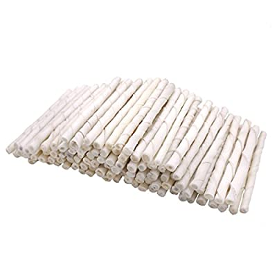 """Mainstreet Dog Rawhide Twist Sticks 60 Count 5"""" for Small Dog and Medium Dog by Mainstreet"""