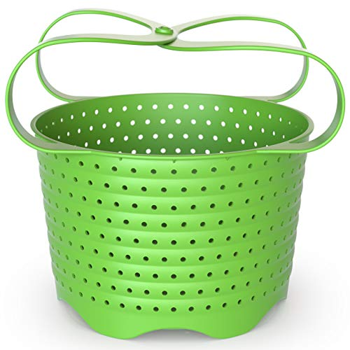 Avokado Silicone Steamer Basket for 6qt Instant Pot or 8qt instapot, Ninja Foodi, and Instant Pot Accessories - Perfect Pressure Cooker Accessory Protects Non-Stick IP Inserts - Rust and Dent Free