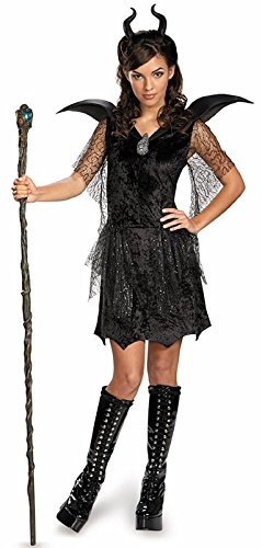 Disney Maleficent Movie Black Gown Tween Deluxe Costume, X-Large/14-16 ()
