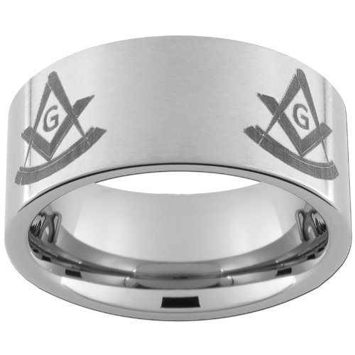 10mm Tungsten Carbide Ring Mason Past Master