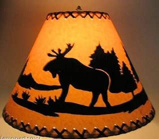 18 Inch Wide X 12 Inch High Moose Rustic Lamp Shade Click On Photos To View Sizing And Style Options Amazon Com