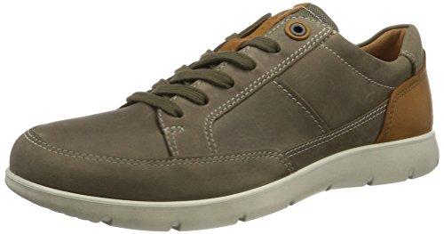 ECCO Men's Iowa Neo Oxford Fashion Sneaker, Stone/Lion, 42 EU/8-8.5 M US by ECCO