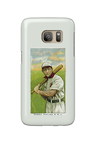 Portland Northwestern League - Harris - Baseball Card (Galaxy S7 Cell Phone Case, Slim Barely (Harris Baseball)