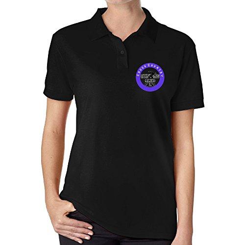Women 80s 90s Run Kansas City Short-sleeve Polo Shirts Black