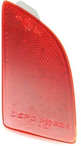 Partslink Number MA1184104 OE Replacement 2014-2016 MAZDA MAZDA/_3 Bumper Reflector Multiple Manufacturers MA1184104N