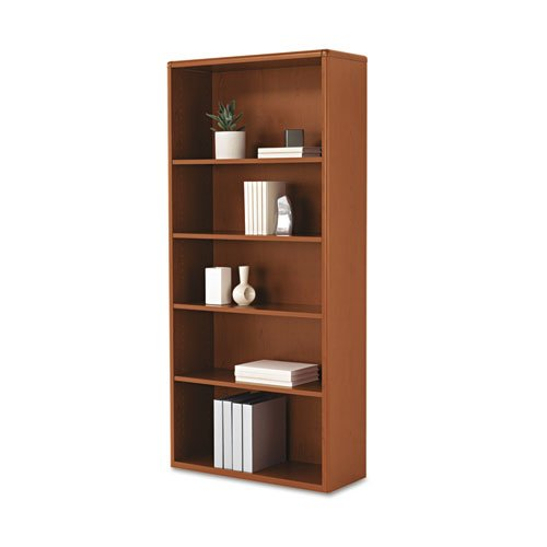 HON 107569JJ 10700 Series Wood Bookcase with Five-Shelves, 32.37 by 13.12 by 71-Inch, Henna - Hon Bookcase Cherry