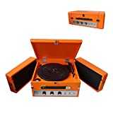 Pyle Audio PLTT82BTOR Vintage Retro Classic Style Bluetooth Turntable Record Player with Vinyl-To-MP3 Recording