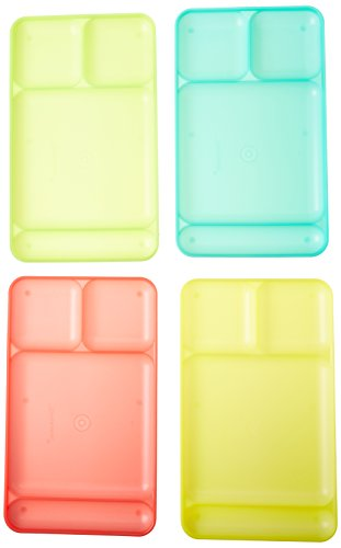 Price comparison product image Tupperware Impressions Dining Trays set of 4 in Guava/Lime Yellow/ Salsa Verde/Sea Green