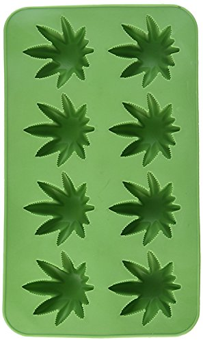 Beistle 59932 Marijuana Leaf Ice Cube Mold Silicone 8 Tray