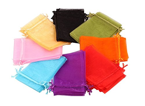 EDENKISS drawstring Organza Jewelry Pouch Bags (Mixed, 6X9'') ()