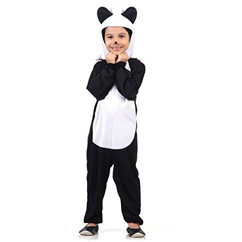 Fantasia Urso Panda Infantil Sulamericana Fantasias Preto/Branco 4 Anos
