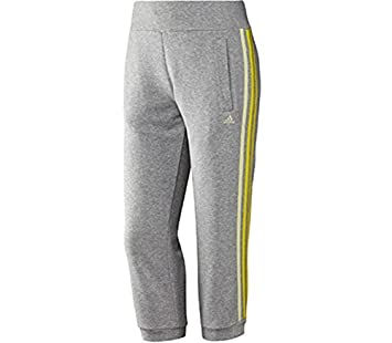 e7ca04aa224d1b adidas Essentials 3S Seasonal Capri Damen 3 4 Hose grau gelb  Amazon ...