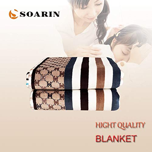 Viet-NA Electric Heaters - Electric Blanket Single Falnnel Electric Heating Blanket 150x80 Electric Carpet