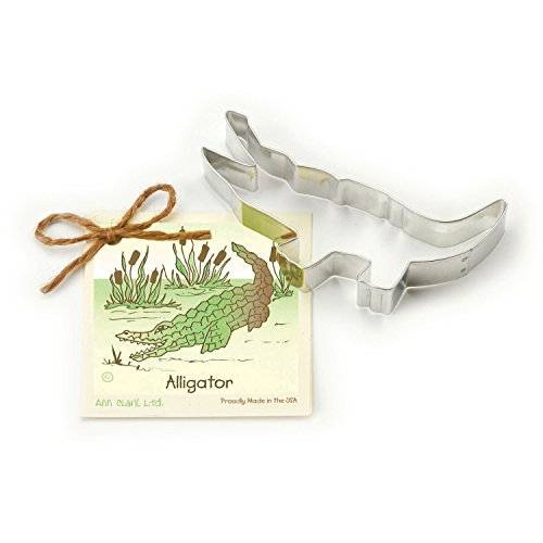 (Alligator Cookie and Fondant Cutter - Ann Clark - 5.5 Inches - US Tin Plated Steel)