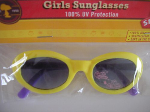 Snoopy Kids Girls Sunglasses ~ Yellow ~ 100% UV - Sunglasses With Snoopy