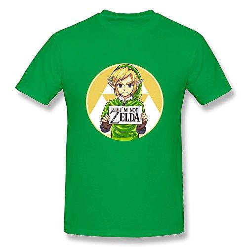 (ToWi Men's The Legend Of Zelda Link Short Sleeve Tshirts ForestGreen)