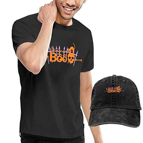 Men's T-Shirt and Hats Happy Halloween Boo Pumpkin Black Cat Ghost Leisure Sports -