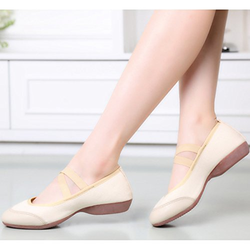 Canvas Schuhe Oxford Obermaterial Weiß Ballett Sohle DorkasDE Gymnastikschuhe Mädchen Tanzschuhe Kunstturnschuhe Damen Z7zY6qw