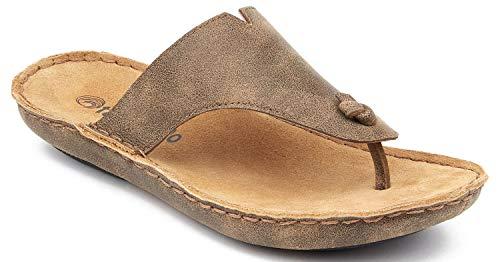 Beachcomber Sandal - Tamarindo Beachcomber Sandal Women's Leather Softbed Flip Flop - Sand - 11