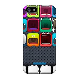 Top Quality Case Cover For Iphone 5/5s Case With Nice Monster Face Shelf Appearance