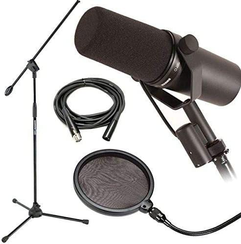 Nr dynamisch Shure Mikrofon mit Mikrofonst/änder SM7B mit Popschutz und 6 m langem XLR-Kabel
