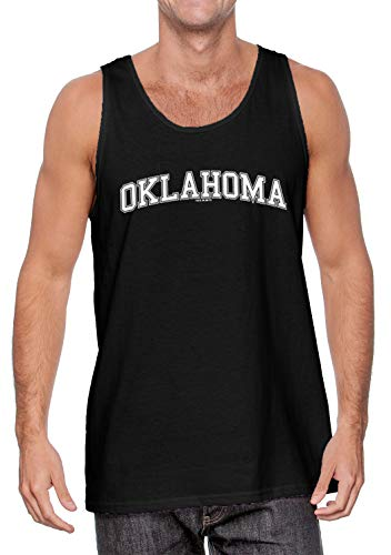 HAASE UNLIMITED Oklahoma - State School University Sports Men's Tank Top (Black, X-Large)