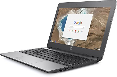 2017 HP 11.6 Inch high performance Chromebook Laptop Computer, Intel Celeron N3060 Up to 2.48GHz, 4GB Memory, 16GB eMMC, WiFi 802.11ac, USB 3.1, Bluetooth, Webcam, Chrome OS (Certified Refurbished) by HP (Image #1)