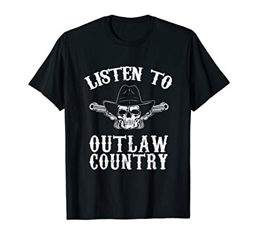 Southern Rebel Cowboy LISTEN TO OUTLAW MUSIC Fan T-Shirt