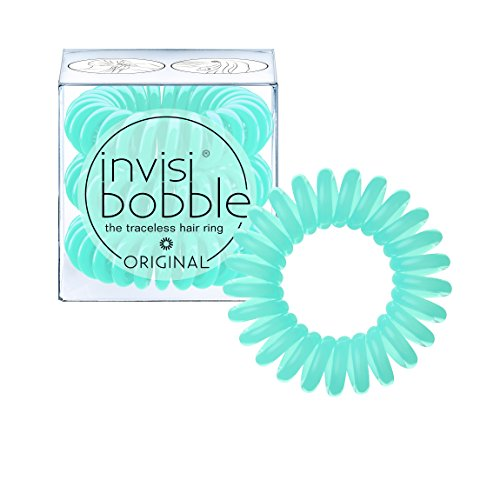 invisibobble ORIGINAL Mint To Be, the traceless and original spiral shaped hair ring, color: mint, 3 hair ties per packaging
