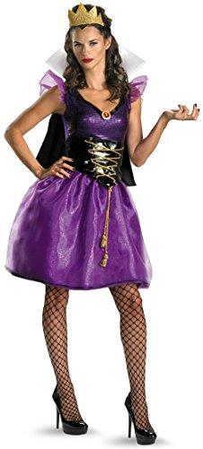 Beauty Queen Costumes (Disguise Disney Evil Queen Sassy Costume, Purple/Black, Medium/8-10)