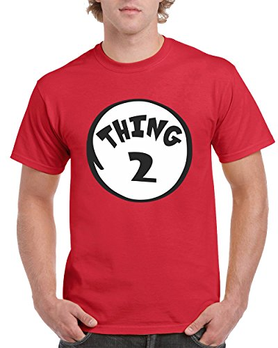 The Cat in the Hat Thing 2 Fashion Men's T-Shirts Round NeckTee Shirts for Men(Red,X-Large) (Cat In The Hat T Shirts Adults)