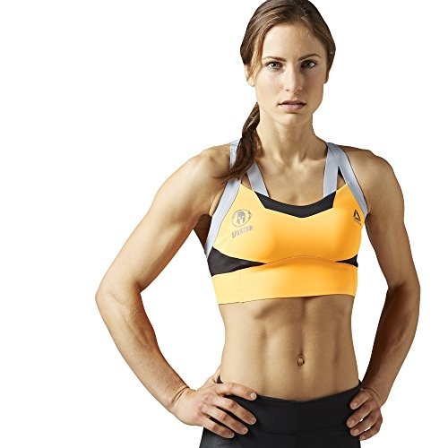 Reebok Women's Spartan Pro Sports Cross Back High Impact Bra S99817 Fire Spark (Fire Spark, Medium) (Reebok Sports Medium Impact Bra)