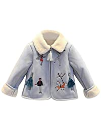 Tenworld Toddler Baby Girl Clothes Winter Outerwear Suede Coat Jackets