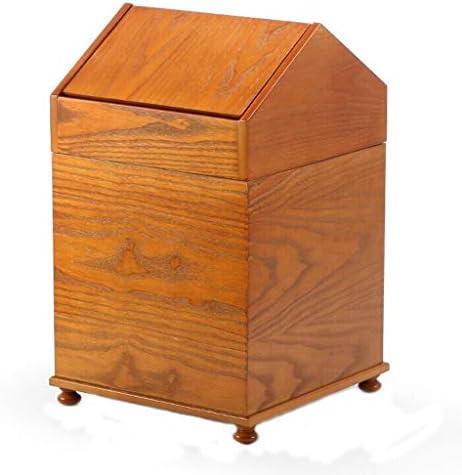 ゴミ袋 ゴミ箱用アクセサリ 中国様式のゴミ箱ふたのゴミが付いている創造的な世帯の浴室の寝室の居間はできます キッチンゴミ箱 (Color : Yellow)