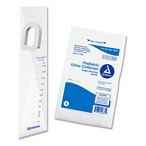ediatric Urine Specimen Collector - Graduated up to 200mL - Sterile - 50 Count (Infant Urine Collector)