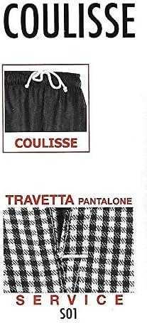 EGOCHEF Pantaloni con Coulisse XXXL, Black