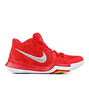 NIKE Kyrie 3 Basketball Shoes Kyrie Irving Mens University Red/Grey/White New 852395-601 - 9.5