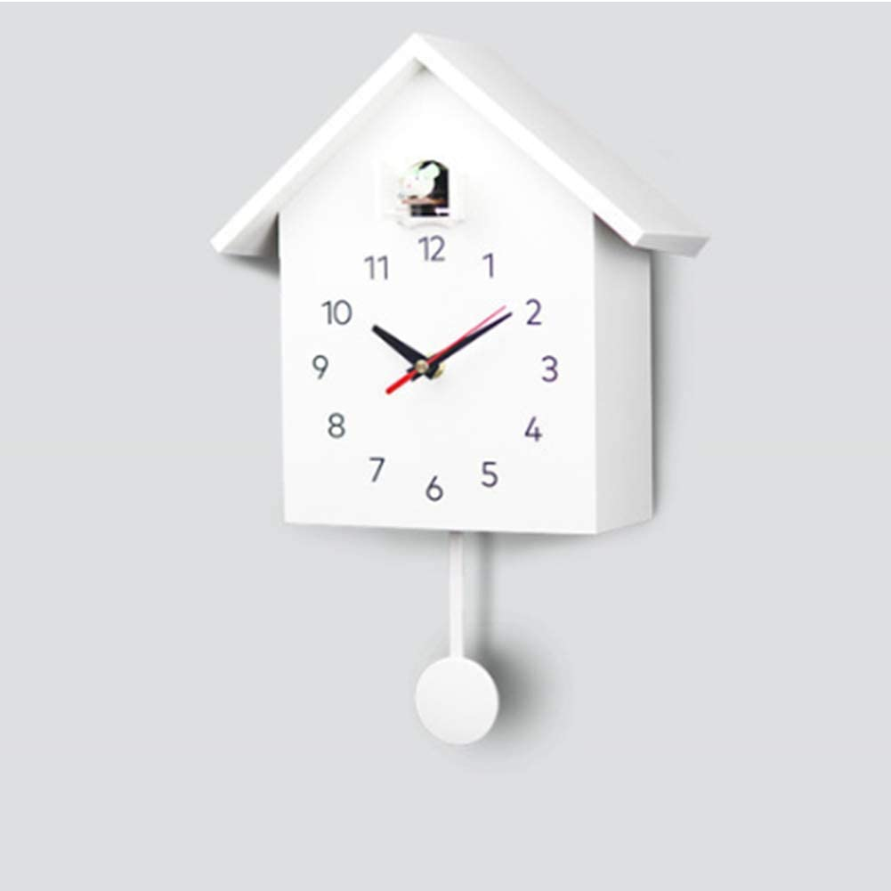 Amazon.com: ZMYLOVE Cuckoo Wall Clock,(2 Pieces) Modern Minimalist Indoor  Quartz Clock with Hourly Chime Function and Silent Swing Digital Pendulum  Clock for Study Office Bedroom,B: Home & Kitchen