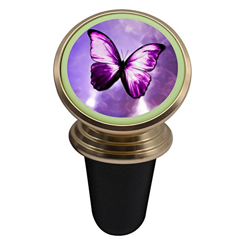 Aluminum Road Boot (Purple Butterflies Magnetic Phone Car Mount Holder Universal 360 Rotation Stand Metal Mobile Phone)