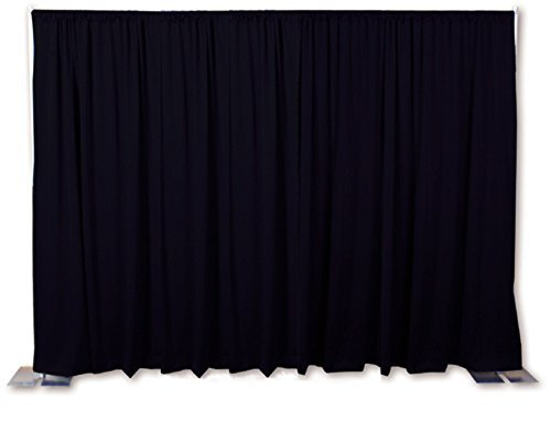 OnlineEEI, Portable Backdrop or Room Divider Kit With Carrying Bag, Black Drapes