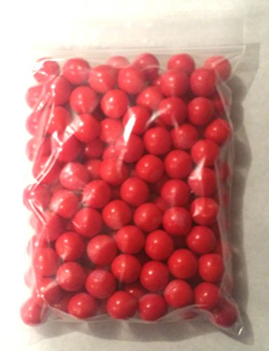 Dubble Bubble Hot Cinnamon 24mm Gumballs 1 Inch, 2 Pounds Approximately 110 Gum Balls.includes a Free 4oz Sample Bag of Amish Country Popcorn