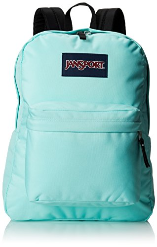 JanSport Superbreak Backpack - Aqua Dash  16.7H x 13W x 8.5D