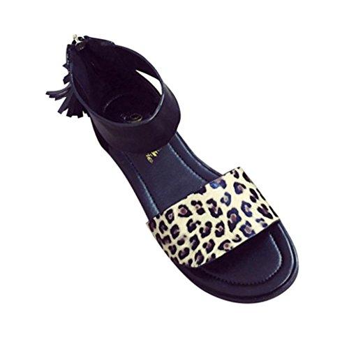bescita Outdoor Sommer Sandalen Frauen Flach Mode Sandalen Bequem Hohe Damenschuhe (35, Gelb)