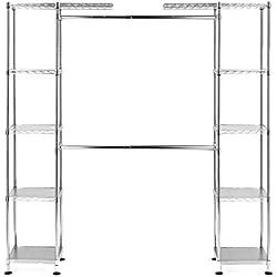 Seville Classics Expandable Closet Organizer System, UltraZinc