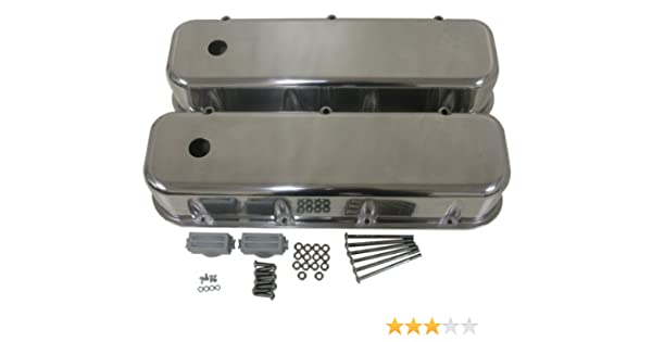 Valve Cover Breather 3 Inch and PCV Valve for Big Block Chevy 396 427 454 Chrome