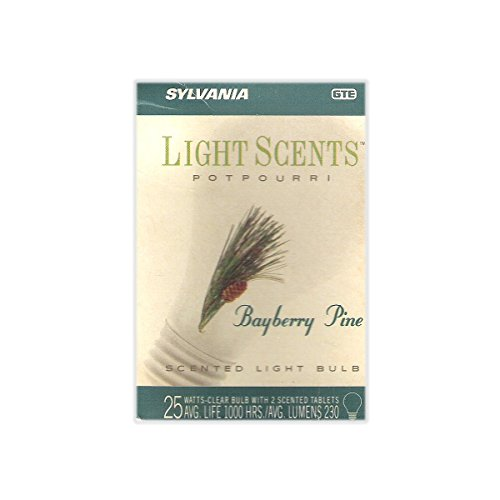 (Light Scents Poutpourri Bayberry Pine 25 Watt Scented Light Bulb - Very Rare / Hard to Find!)