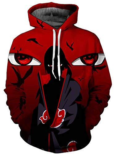 Indrah Unisex 3D Printed Fashion Hoodies Anime Naruto Jacket Pullover Cosplay Costumes ()