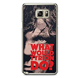 Game of thrones Samsung Note 5 Transparent Edge Case - Tyrion