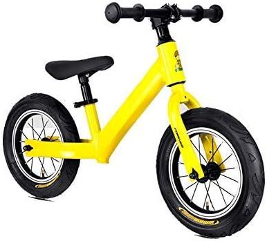 YSA 子供のスライド、陽極酸化アルミ合金フレームペダルなしスポーツトレーニングウォーキング自転車調整可能なハンドルバーとシート3〜6年子供のおもちゃに最適なギフト、黄色